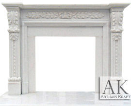 Hinsdale White Marble Mantel