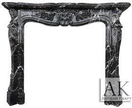 St Louis French Fireplace Black Marble