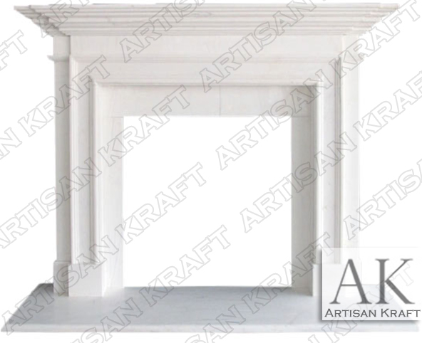 Traditional 2 Marble Fireplace