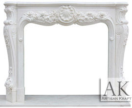 Victoria Antique White Marble Fireplace
