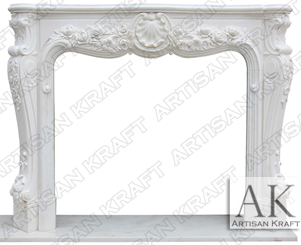 Victoria Marble Antique Fireplace Mantel
