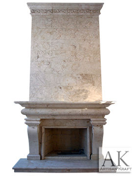 Classic French Marble Overmantel Fireplace