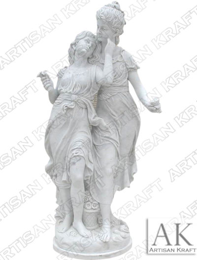 mother-and-daughter-statue marble sculptures