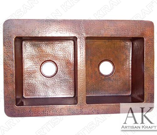 Double-Well-Farmhouse-Hammered-Copper-Sink